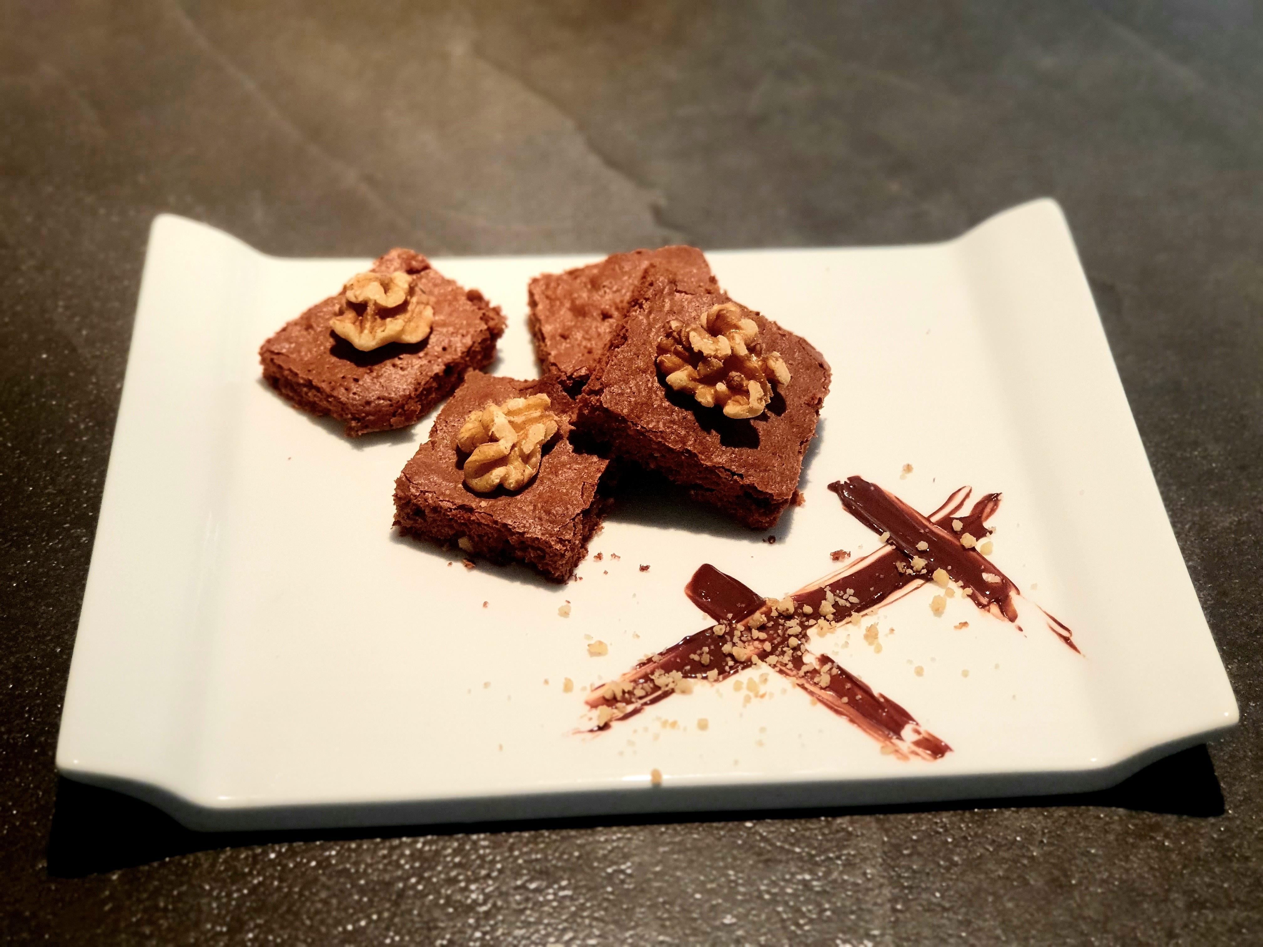 Brownies à la poudre de noix